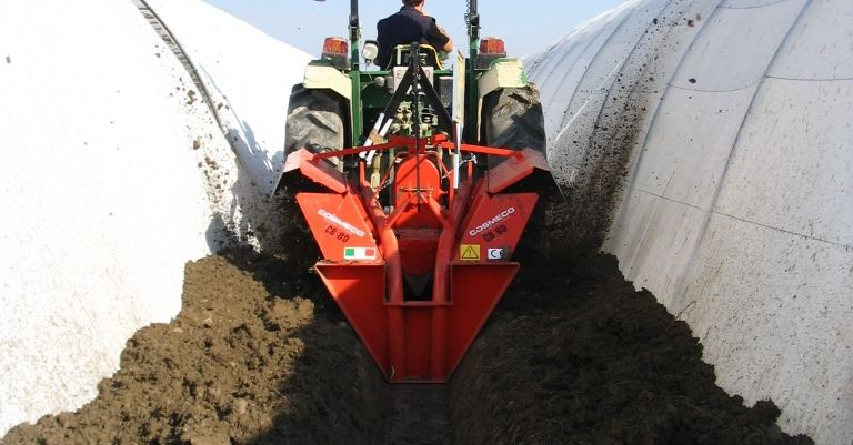 Double Wheel Ditchers for greenhouse