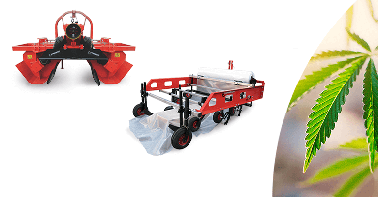 Agricultural equipment for cultivating hemp: bedformer and mulcher