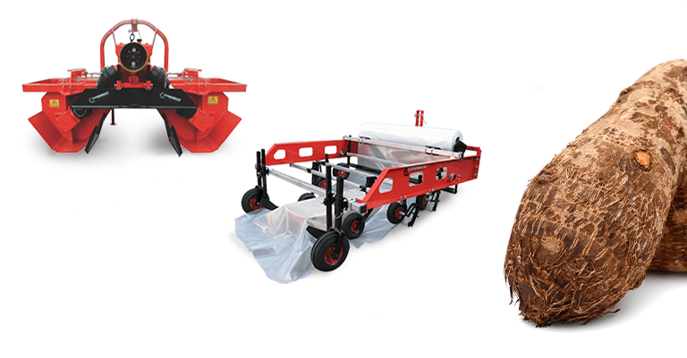 Farming equipment to start up the cultivation of Yam tubers: adjustable bedformers and mulch layers