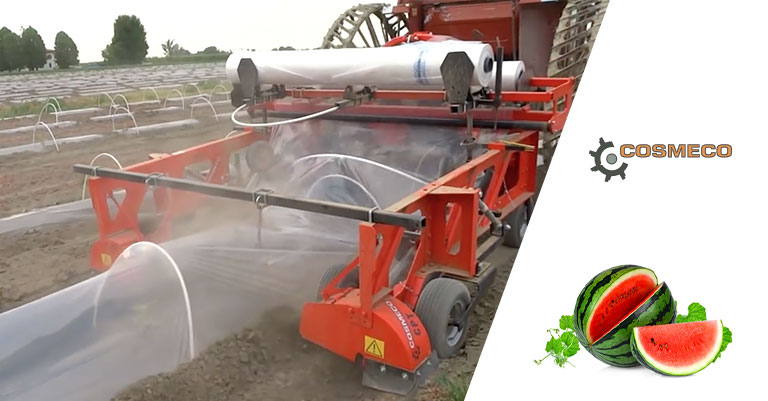 The agricultural machinery for the cultivation of watermelon