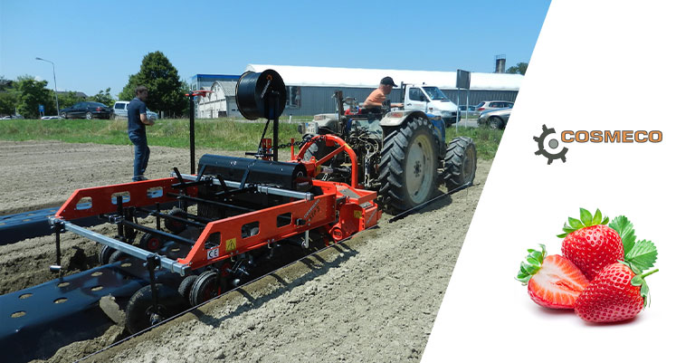 The machinery suitable for the cultivation of strawberries