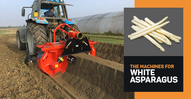 Which machines do you need to cultivate white asparagus?